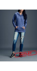 Anvil Sweater Hooded French Terry for her