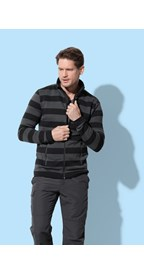 Stedman Polar Fleece Cardigan Striped for him