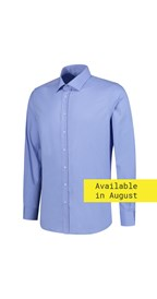 L&S Stretch Poly-Cotton Mix Poplin Shirt Long Sleeves for him